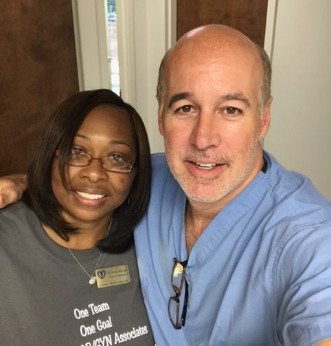 Dr. Robert Dourron and our amazing Office Manager Christina Manogin